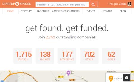 Captura pantalla StartupXplore