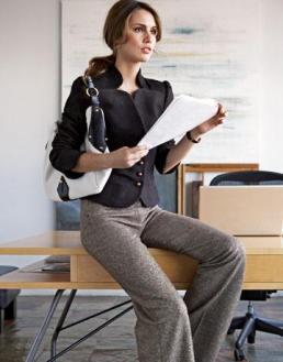 Mujer ejecutiva oficina