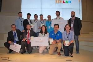 Foto de los ganadores de la primera edicion de SEK Lab